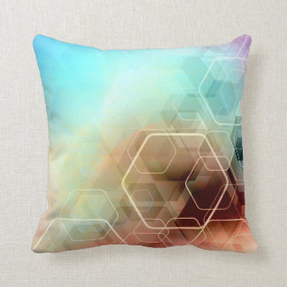 Hexagonal Rainbow Cushion