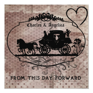 """Hexagons and Dots This Day Forward Wedding Invitet 5.25"""" Square Invitation Card"""