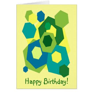 Hexagons Birthday Greeting Card