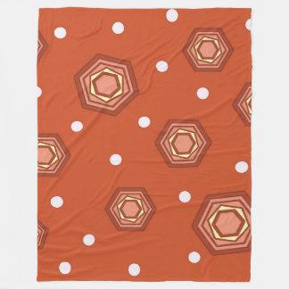 Hexagons Burnt Orange Fleece Blanket