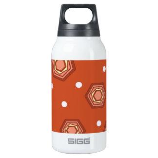 Hexagons Burnt Orange Thermos Water Bottle