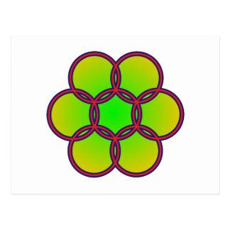 Hexagons of hexagon postcards