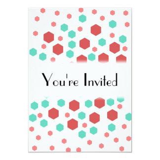 Hexagons Pattern. 13 Cm X 18 Cm Invitation Card