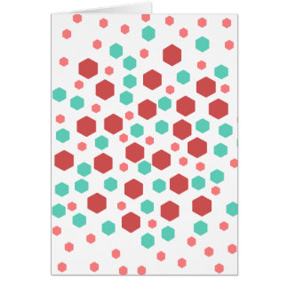 Hexagons Pattern. Greeting Card