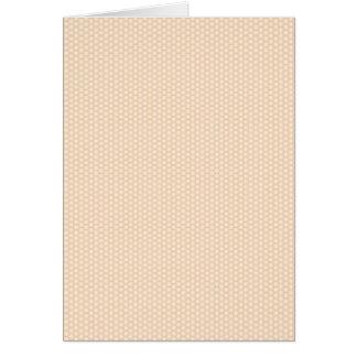 Hexagons pattern greeting card