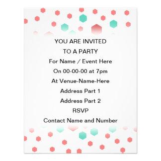 Hexagons Pattern Invite