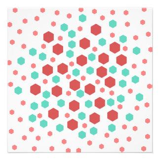 Hexagons Pattern Personalized Invitation