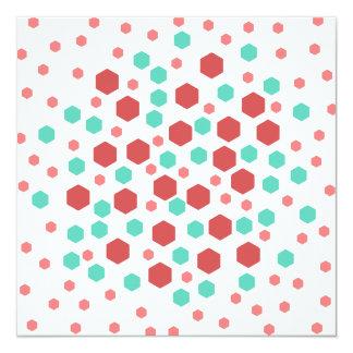 Hexagons Pattern. Personalized Invitation