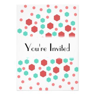 Hexagons Pattern Custom Invitation
