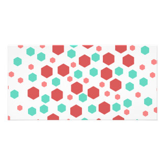 Hexagons Pattern. Picture Card