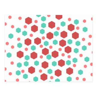 Hexagons Pattern. Post Cards