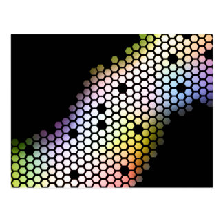 Hexagons Postcard
