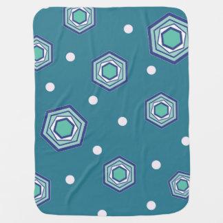Hexagons Teal Baby Blanket