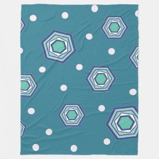 Hexagons Teal Fleece Blanket