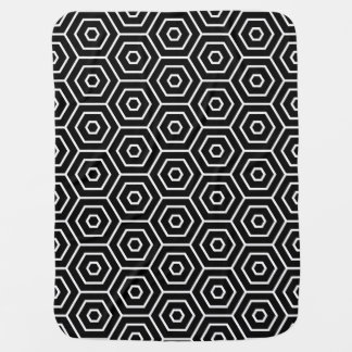 Hexagons texture geometric pattern baby blanket