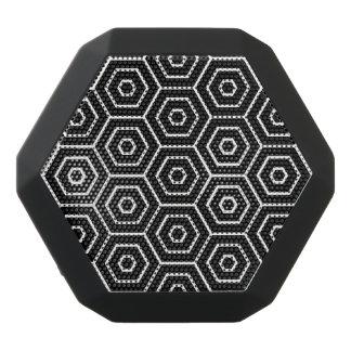 Hexagons texture geometric pattern black bluetooth speaker