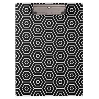 Hexagons texture geometric pattern clipboard