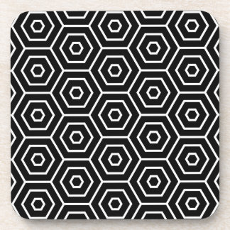 Hexagons texture geometric pattern coaster