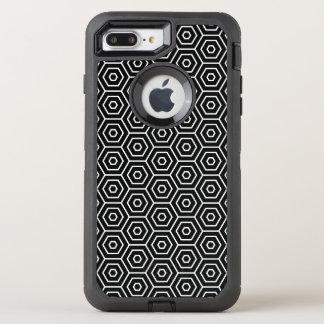 Hexagons texture geometric pattern OtterBox defender iPhone 7 plus case