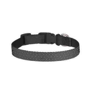 Hexagons texture geometric pattern pet collar