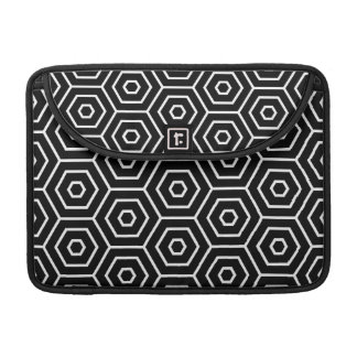 Hexagons texture geometric pattern sleeve for MacBook pro