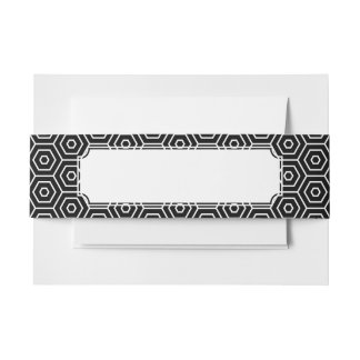 Hexagons texture geometric pattern invitation belly band