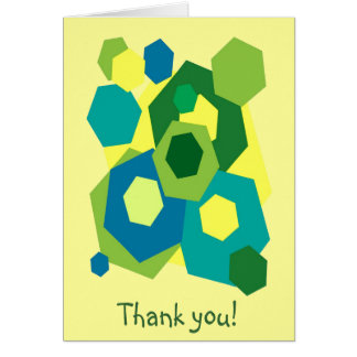 Hexagons Thank You Note Card