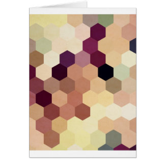 Hexagons VI Greeting Cards
