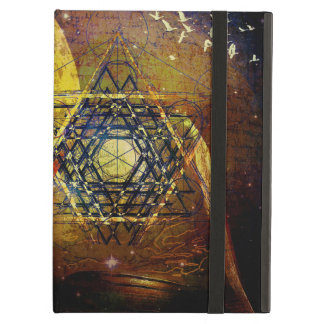 Hexagram sacred geometry symbol cover for iPad air