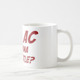 Hey AC Want to Wrestle!? Basic White Mug