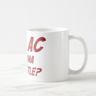Hey AC Want to Wrestle!? Basic White Mug