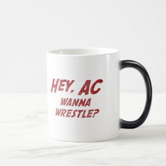 Hey AC Want to Wrestle!? Morphing Mug