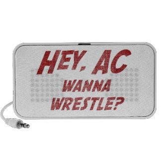 Hey AC Want to Wrestle!? Notebook Speaker