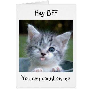 HEY BFF I WON'T TELL YOUR AGE-HAPPY BIRTHDAY CARD