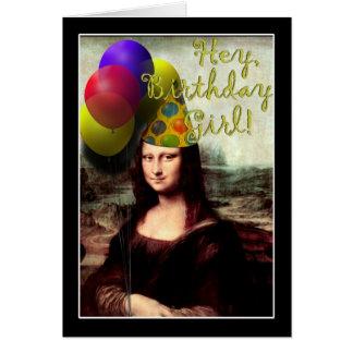 Hey, Birthday Girl, Mona Lisa! Card