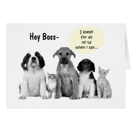 Funny birthday ecard for boss