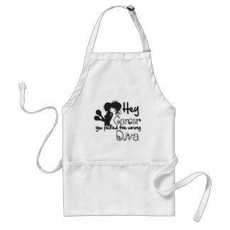 Hey Brain Cancer You Picked The Wrong Diva Adult Apron