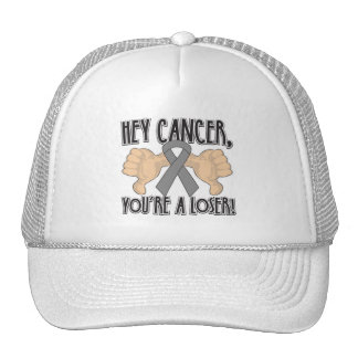 Hey Brain Cancer You re a Loser Mesh Hat