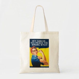 HEY CANCER YOU PICKED THE WRONG BITCH tote bag