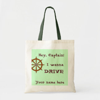 Hey Captain Funny Personalized Budget Tote Bag