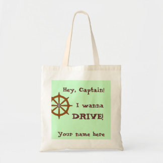 Hey Captain Name On It Budget Tote Bag