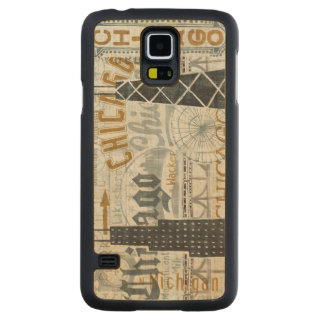 Hey Chicago Vintage Carved Maple Galaxy S5 Case