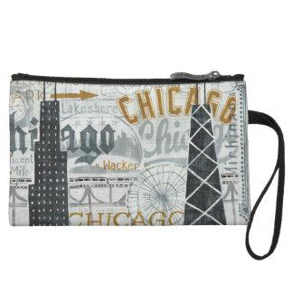 Hey Chicago Vintage Wristlet