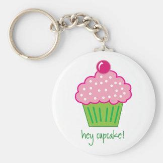hey cupcake! basic round button key ring