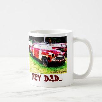 HEY DAD...BROKE BASIC WHITE MUG