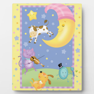 Hey Diddle Diddle Baby Art Easel Photo Plaque