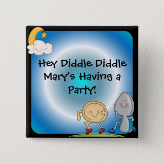Hey Diddle Diddle Custom Button