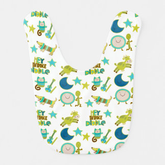 Hey Diddle Diddle Nursery Rhyme Bib