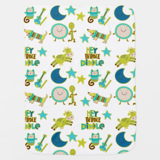 Hey Diddle Diddle Nursery Rhyme Buggy Blanket