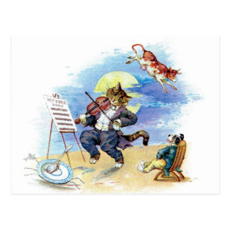 Hey Diddle Diddle Nursery Rhyme Postcard